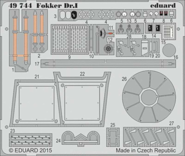 1/48 Aircraft- Fokker Dr I for RVL (Painted)