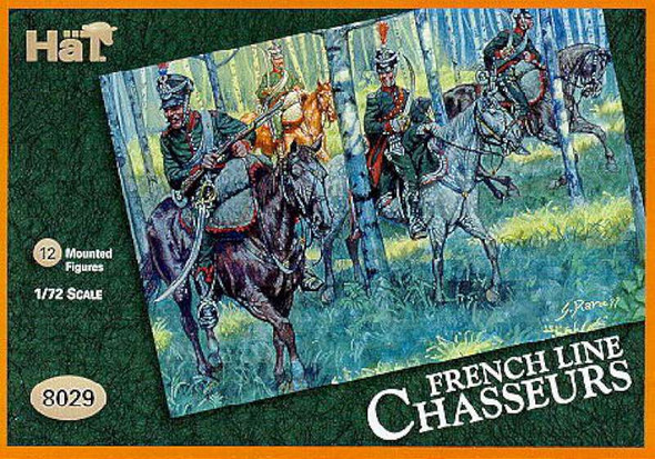 Model Figures - French Chasseurs. 12 Mounted figures.- 1:72 -HAT Indus