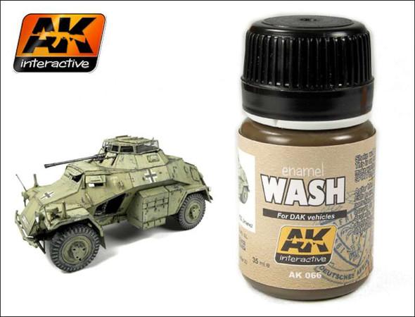 AK Interactive Dak Vehicle Wash Enamel Paint 35ml Bottle -- Hobby