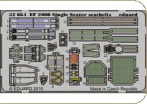Eurofighter EF-2000 Typhoon Single Seat Seatbelts (desig