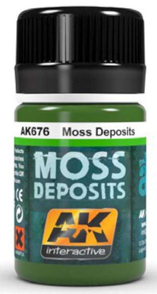 AK Interactive Moss Deposit Enamel Paint 35ml Bottle -- Hobby and