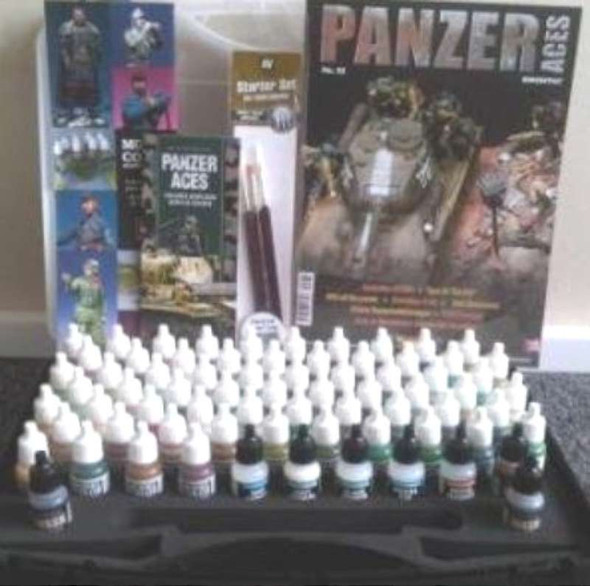 Vallejo Panzer Aces Paints Suitcase (72 Colors and 3 Brushes)