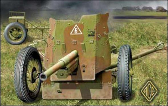 Ace Plastic Models Soviet 45mm Anti-Tank Gun Model 1937 -- Plastic