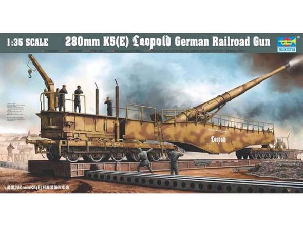 Leopold German Rail Gun, 1/35 by Trumpeter, Model Vehicle