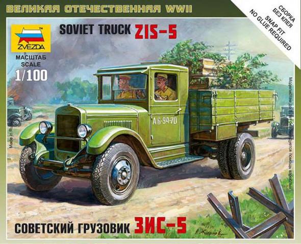 Zvezda - 6124 1/100 Soviet Truck ZIS-5 Snap Kit - Plastic Model