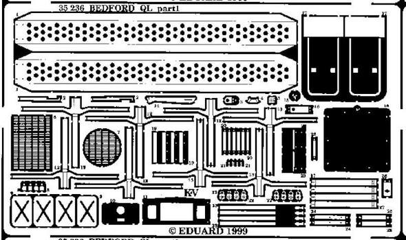 Eduard Models Armor- Bedford QL -- Plastic Model Vehicle Accessory