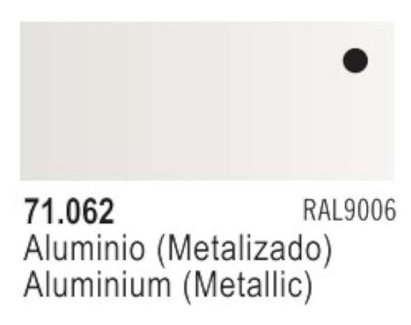 Vallejo Acrylic Paint, Flat Aluminum, 1 fl. oz (Two 1/2 oz Bottles)