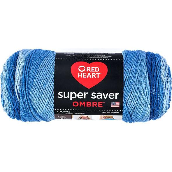 Red Heart Super Saver Ombre Yarn True Blue
