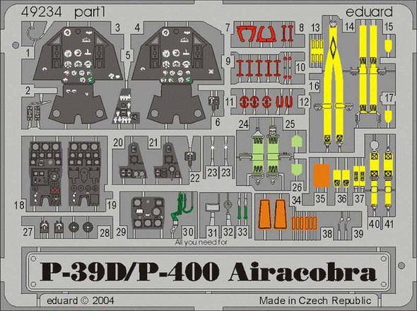 Bell P-39D/Bell P-400 Airacobra PRE-PAINTED in COLOUR! (