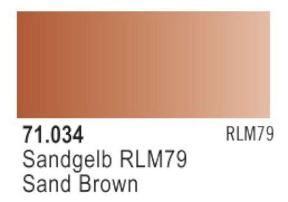Sandy Brown (RLM79), 17ml by Vallejo, Model Paint