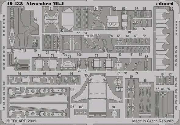 Airacobra Mk.I (self adhesive) PRE-PAINTED in COLOUR! (d
