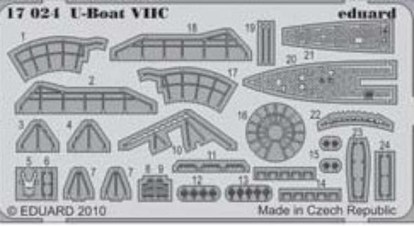 Eduard Models U-Boat VIIC for A Revell Model -- Plastic Model Ship