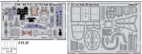 1/48 Aircraft- Yak38 Interior for HBO (Painted)