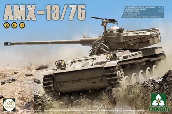 AMX-13 13/75 IDF Light Tank (2 in 1), 1/35 by Takom, Model Vehicle