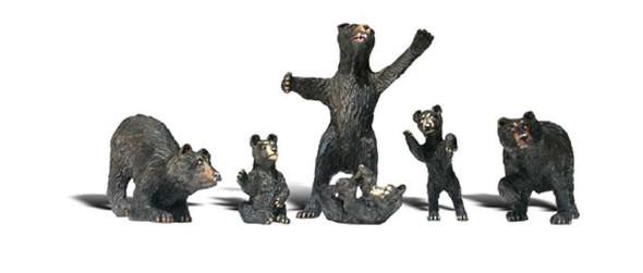 Woodland Scenics A2186 N Black Bears Train Figures N Scale