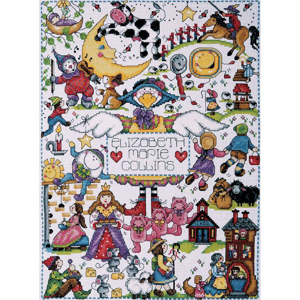 """Nursery Rhymes Counted Cross Stitch Kit 11""""X15"""" 14 Count"""