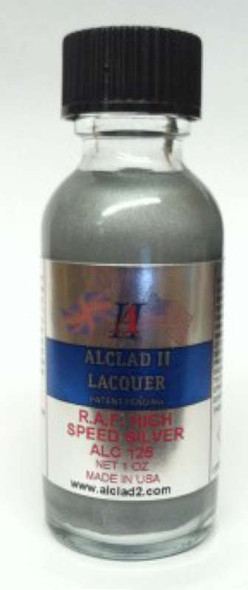 Alclad II 1oz. Bottle High Speed Silver Lacquer Paint Lacquer