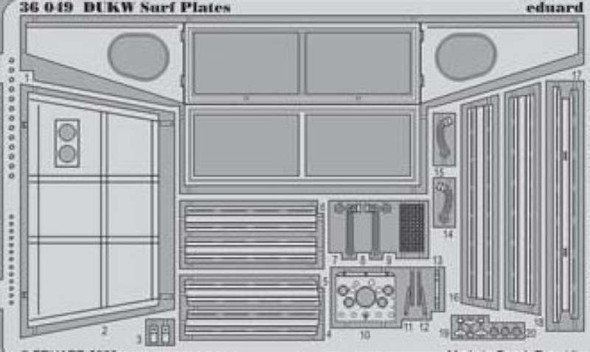1/35 Armor- DUKW Surf Plates for ITA
