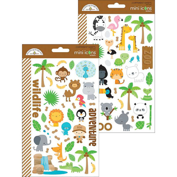 At The Zoo Stickers Mini Icons