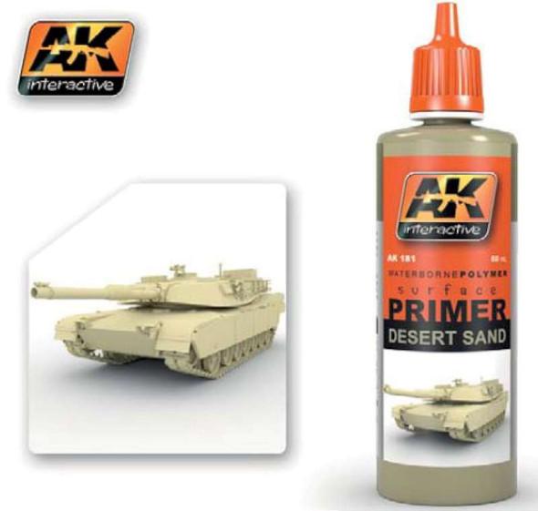 AK Interactive Desert Sand Acrylic Primer 60ml Bottle -- Hobby and