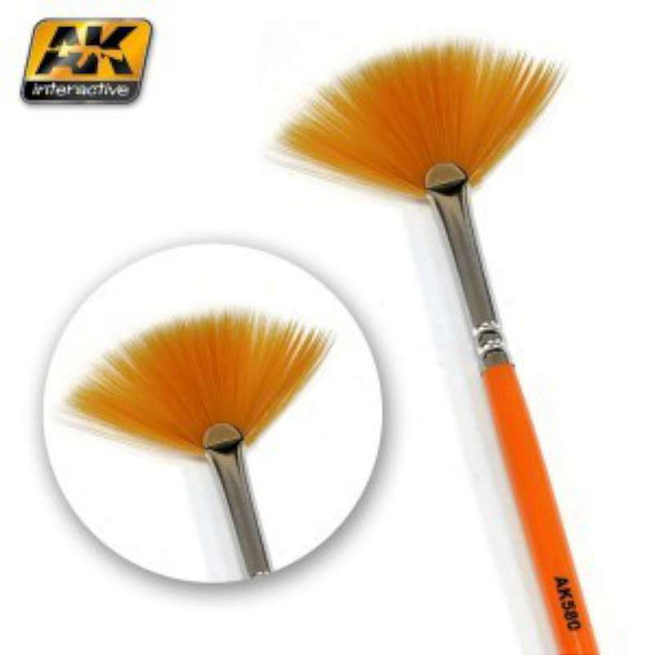 AK Interactive Fan Shape Weathering Brush -- Hobby and Model Paint