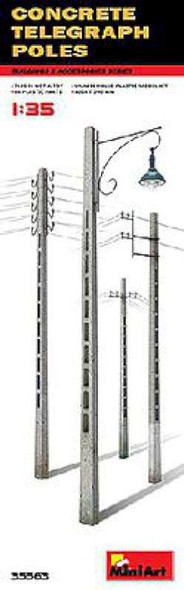 1/35 Concrete Telegraph Poles (4 diff. types)