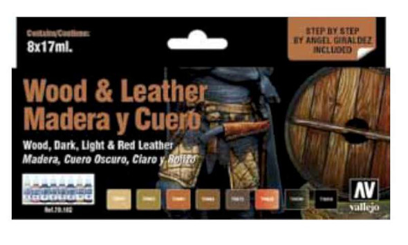 Vallejo Paints Model Color Set: Wood and Leather (8)