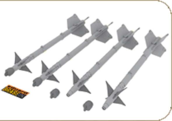 AIM-9M/L Sidewinder- 1:48 -Eduard Brassin
