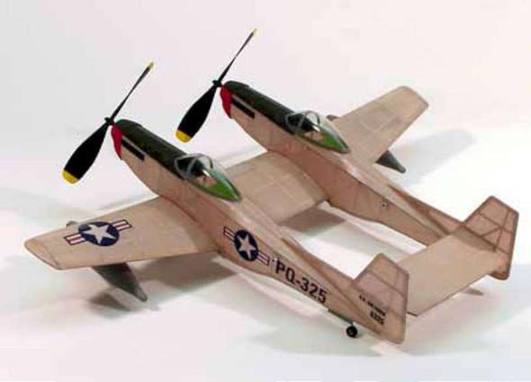 """Dumas F-82 Twin Mustang,17.5""""Rubber Power DUM206"""