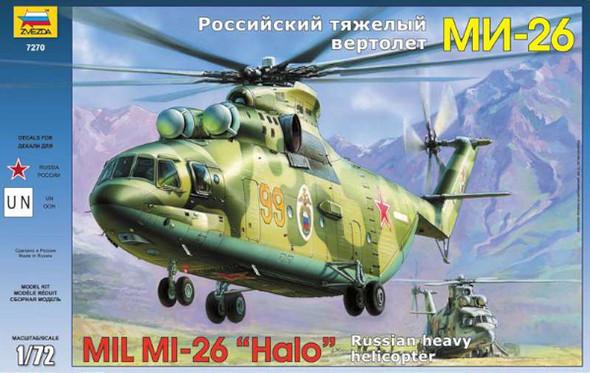 Airplane Model Kit - Mil Mi-26 Soviet Helicopter- 1:72 -Zvezda