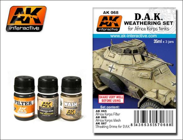 AK Interactive Africa Korps Weathering Set #00068