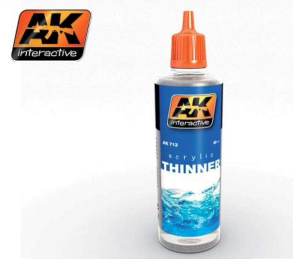 AK Interactive Acrylic Thinner 60ml Bottle -- Hobby and Model 712