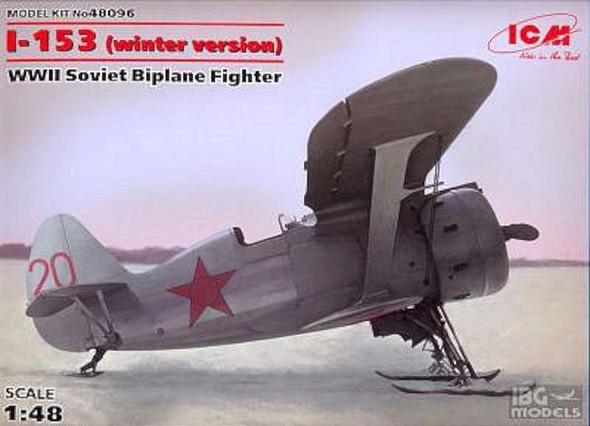 I153 WWII Soviet BiPlane Fighter (Winter) -- Plastic Model Airplane Kit -- 1/48 Scale -- #48096