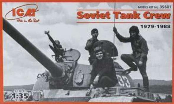 Soviet Tank Crew 1979-1988 (3) -- Plastic Model Military Figure -- 1/35 Scale -- #35601