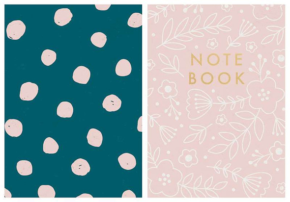 """Kaiser Style Pocket Notebooks 4""""X6"""" 60 Pages 2/Pkg Rosy; Blank"""