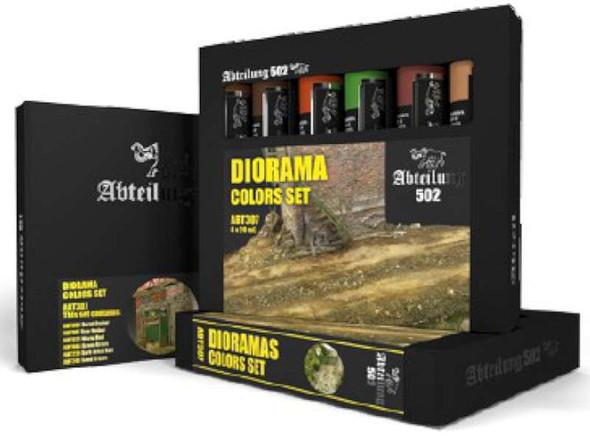 Dioramas Weathering Oil Paint Set (6 Colors) 20ml Tubes