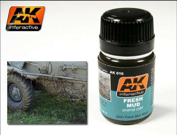 AK Interactive Fresh Mud Enamel Paint 35ml Bottle -- Hobby and Model