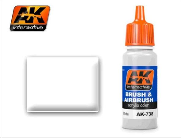 White Acrylic Paint 17ml Bottle