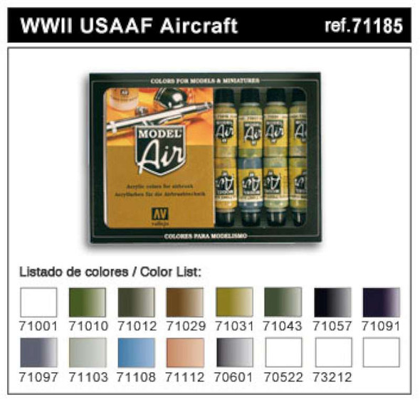 Vallejo WWII USAAF A/C Model Air Paint, 17ml
