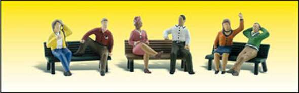 Woodland Scenics People on Benches - HO Scale