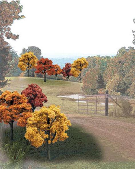 "Woodland Scenics TR1576 Value Pack Fall Deciduous Trees 2-3"""