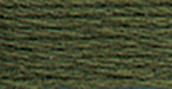 DMC Pearl Cotton Skein Size 5 27.3yd Dark Avocado Green