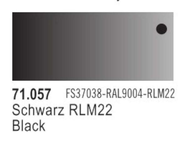 Black (FS37038, RAL9004, RLM22), 17ml by Vallejo, Model Paint