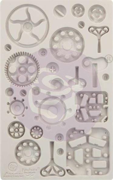 """Finnabair Decor Moulds 5""""X8"""" Mechanica"""