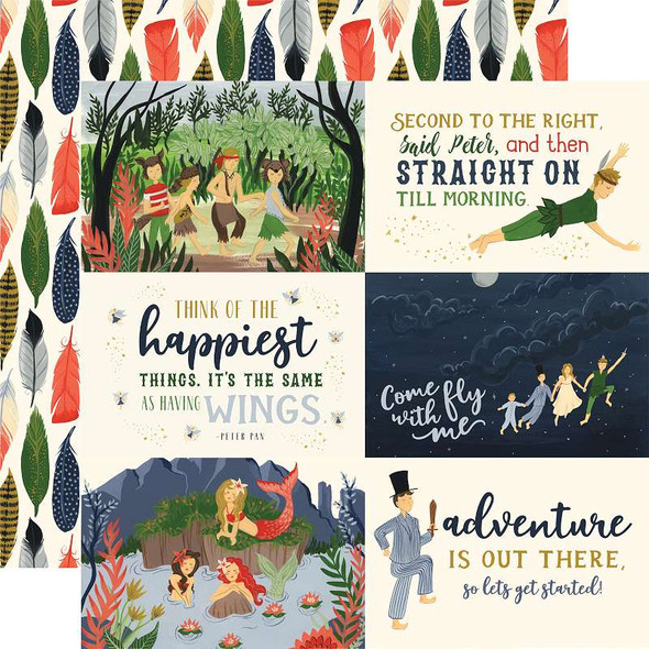 """Lost In Neverland Double-Sided Cardstock 12""""X12"""" 6""""X4"""" Journaling Cards"""