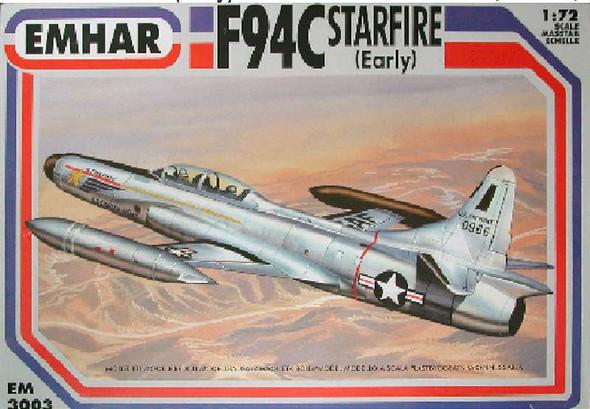 Emhar/squadron F94-C Starfire USAF 1-72 Early Plastic Model Plastic