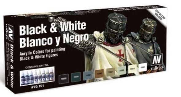 Vallejo Model Color Black & White Set New