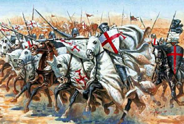 Italeri - 6125S 1/72 Medieval Era Templar Knights - Plastic Model