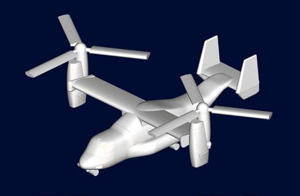 Trumpeter 3457 MV-22 Osprey for 1/700 Scale Model Ships