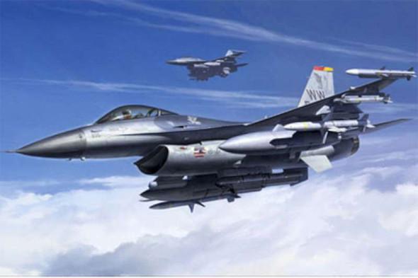 Tamiya - 61098 1/48 Lockheed Martin F-16CJ - Plastic Model